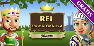 página inicial do aplicativo Rei da Matemática